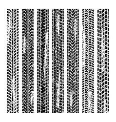 Tire tracks grunge design vector image