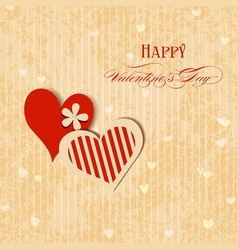 Valentine hearts greeting card vector image vector image