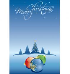 Christmas winter card vector image