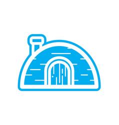 Flat color igloo icon vector
