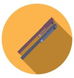 Flat design concept of ballpoint pen icon long vector image