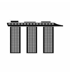 Marina Bay Sands Hotel Singapore icon vector image
