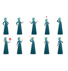 Muslim pregnant woman set vector