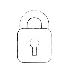 safe secure padlock icon vector image vector image