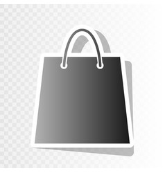 shopping bag new year vector image vector image
