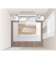 double bed top view. Top View Bedroom With Beige Walls Vector Image Double Bed S
