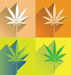 CannabisFlat vector image