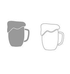 cup beer it is black icon vector image