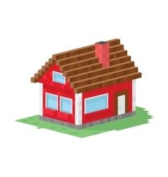 Family house building vector
