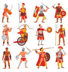 gladiator roman warrior character in armor vector image