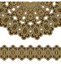 Gold ornament vector image vector image
