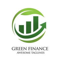 green finance logo vector image vector image