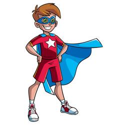 little super boy vector image vector image