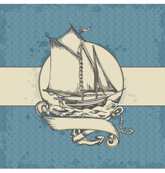 sea vintage vector image