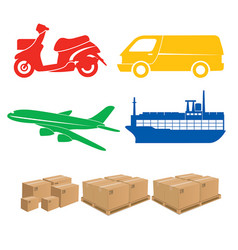 shipping sign logistics vector image