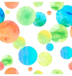 Watercolor Circle Seamless Background vector image vector image