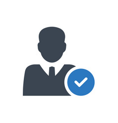 Account approved icon vector