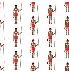 australian aborigine seamless pattern vector image