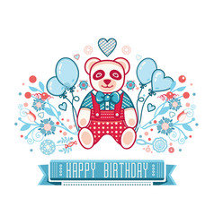 baby toy panda isolated picture vector image