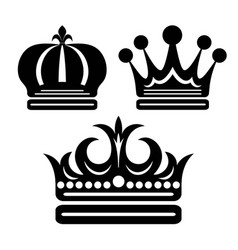 Beauty crown silhouette vector