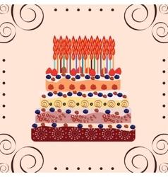 Birthday cake fifty years vector image