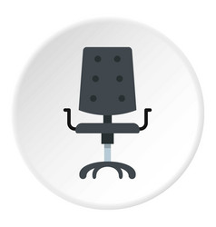 Black office chair icon circle vector