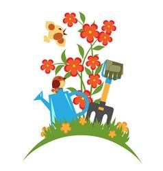 Blooming Garden emblem vector