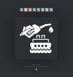 boat fuel icon vector image