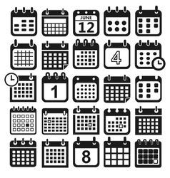 calendar design icons vector image