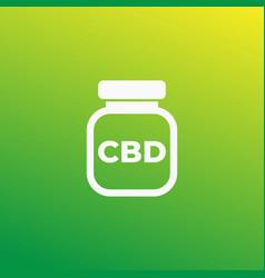 cbd medicine bottle icon vector image