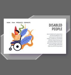 Child with special needs disabled people landing vector
