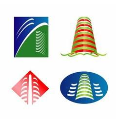 City skyline logo vector