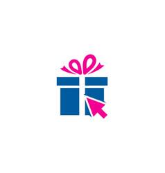 Click gift logo icon design vector