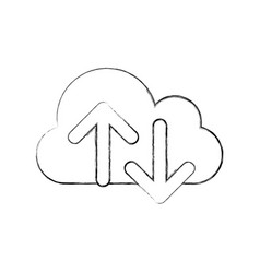 Cloud computing with arrows vector