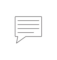 Comment line icon speech bubbles graphics vector