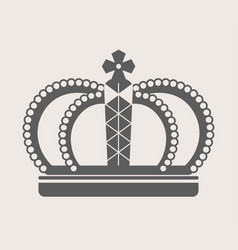 Crown royalty accessory or headdress power vector