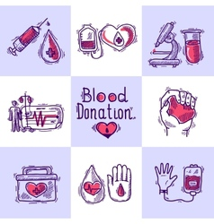 Donor Design Concept vector image