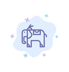 elephant animal blue icon on abstract cloud vector image