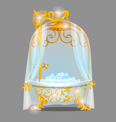 Exquisite design bath with a golden florid vector