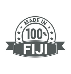 fiji stamp design vector image