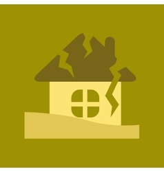 Flat icon on stylish background house crash vector