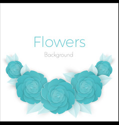 flowers background with three dimensional blue vector image
