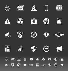 General useful icons on gray background vector image