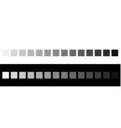 Grayscale colors on black and white monochrome vector