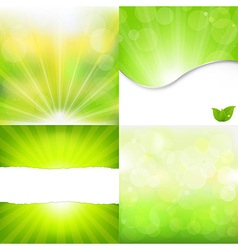 Green Nature Backgrounds vector image