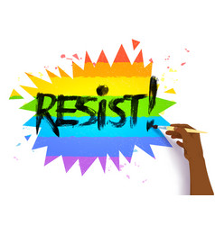 hand writing resist slogan vector image