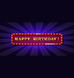 Happy birthday card banner vector