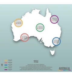 Infographic template slide of Australia Map vector