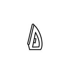 iron laundry icon vector image