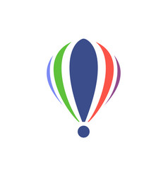 Isolated icon of hot air balloon flat design vector